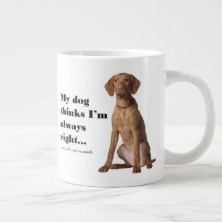 Vizsla v Wife Jumbo Mug
