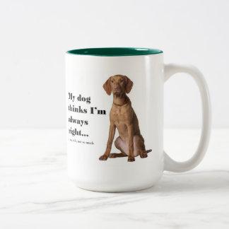 Vizsla v Wife Mug