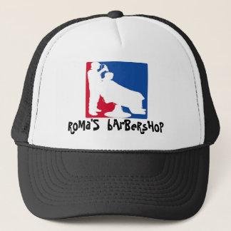 vizta print logo pelu, RoMa'S  bArBeRsHoP Trucker Hat