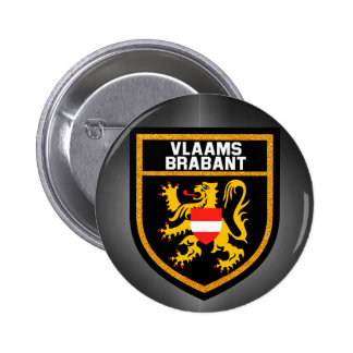 Vlaams-Brabant Flag 2 Inch Round Button