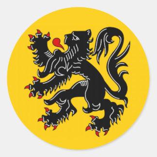 Vlaanderen (Flanders) Round Sticker