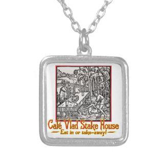 Vlad Cafe Square Pendant Necklace