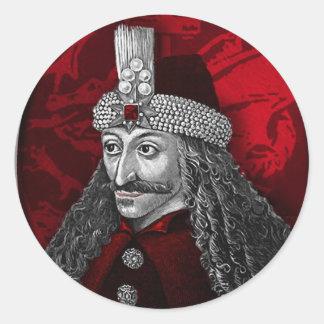 Vlad Dracula Gothic Classic Round Sticker