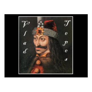 Vlad Tepes with name in Blackadder Postcard