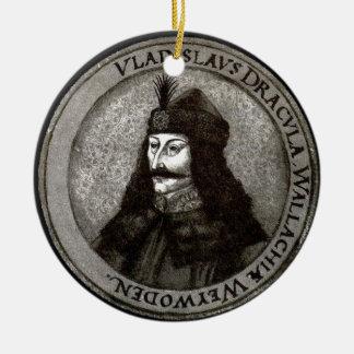 Vlad the Impaler [Count Dracula] Round Ceramic Ornament