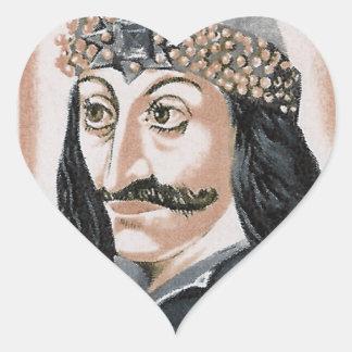 Vlad the Impaler Heart Sticker