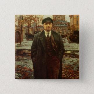 Vladimir Ilyich Lenin  at Smolny, c.1925 2 Inch Square Button