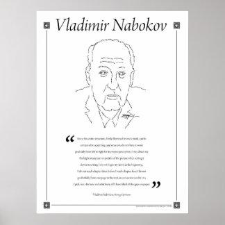 Vladimir Nabokov Writing Quote Poster