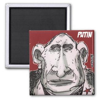 vladimir putin caricature portrait square magnet