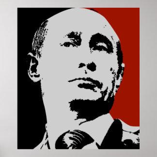Vladimir Putin on Red Poster