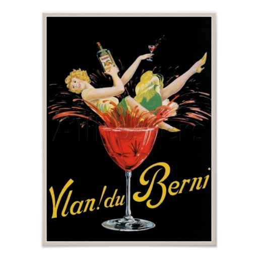 'Vlan du Berni' Vintage Wine Advertisment Poster