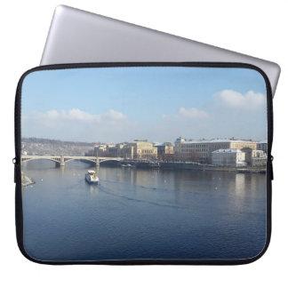 Vltava River and Újezdv, Prague Laptop Sleeve