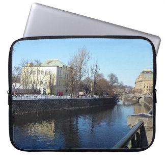 Vltava Riverbank in Prague Laptop Sleeve