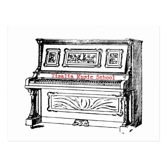 VMS Piano Postcard