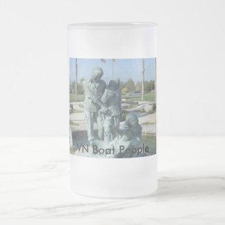 VNCH VN Boat People 16 Oz Frosted Glass Beer Mug