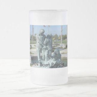 VNCH VN Boat People Frosted Glass Mug
