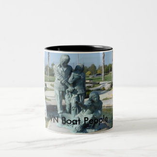 VNCH VN Boat People Two-Tone Coffee Mug
