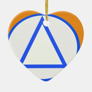 Vnv, Belgium flag Ceramic Heart Ornament