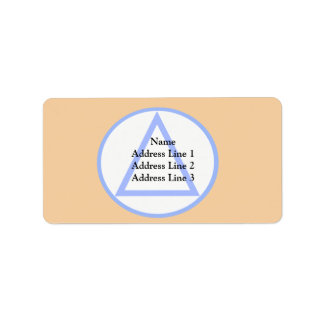 Vnv, Belgium flag Custom Address Label