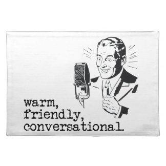 VO Copy Stand Mat: Warm, Friendly, Conversational Placemat