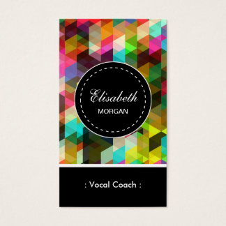 Vocal Coach- Colorful Mosaic Pattern Business Card