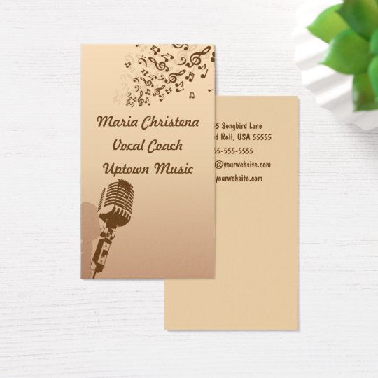 Vocal Coach, Singer, Songwriter Business Card