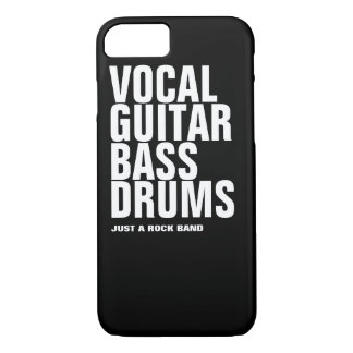 vocal, guitar, bass, drums... rock Case-Mate iPhone case