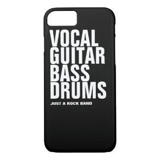 vocal, guitar, bass, drums... rock iPhone 8/7 case
