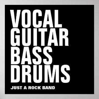 vocal, guitar, bass, drums... rock poster