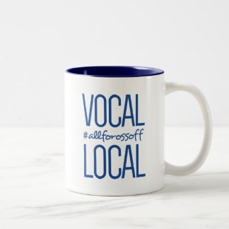 Vocal & Local #AllForOssoff - BLUE Two-Tone Coffee Mug