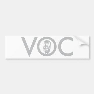 Vocals Bumper Sticker