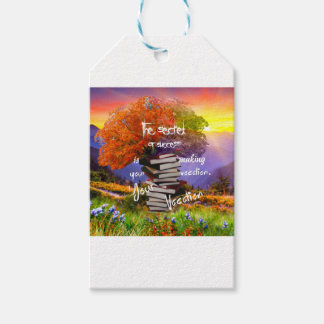 Vocation and vacation at the same time pack of gift tags