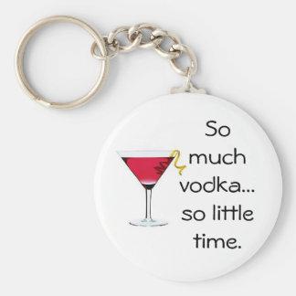 Vodka Basic Round Button Keychain