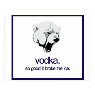 Vodka Bear Postcard