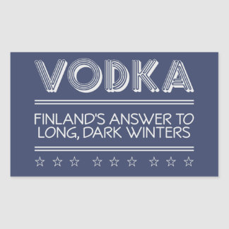 VODKA custom color stickers