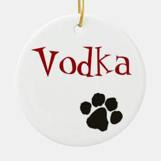 Vodka - dog pendant ceramic ornament