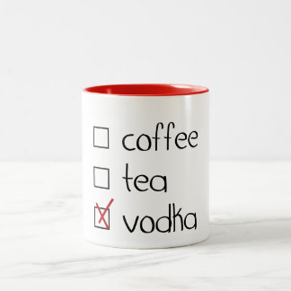 Vodka Two-Tone Coffee Mug