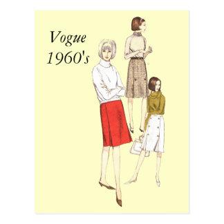 Vogue 1960s, Vogue1960's Post Cards