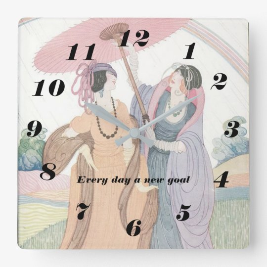 Vogue Print Wall Clock