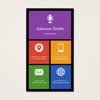 Voice Dubbing Service - Colorful Tiles Creative Business Card