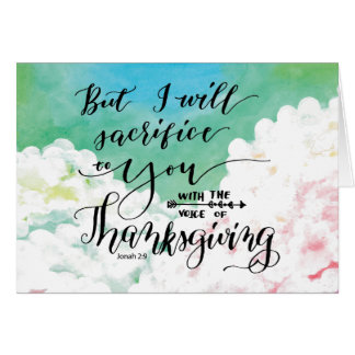 Voice of Thanksgiving 2 Card
