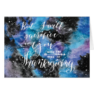 Voice of Thanksgiving 3 Card