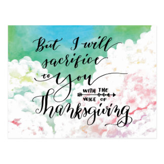 Voice of Thanksgiving 3 Postcard