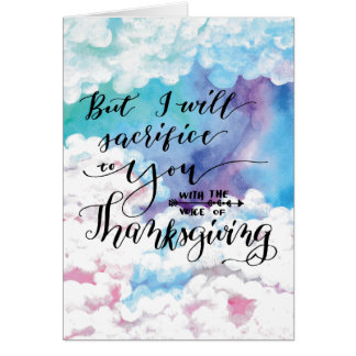 Voice of Thanksgiving 4 Greeting Card