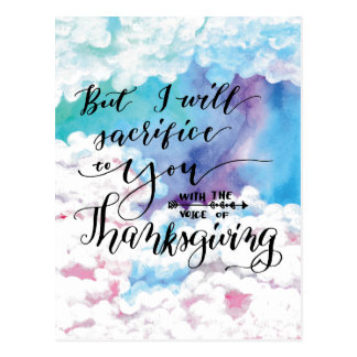Voice of Thanksgiving 4 Postcard