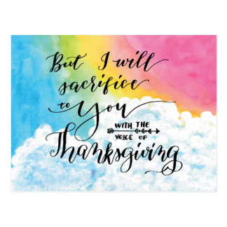Voice of Thanksgiving Postcard