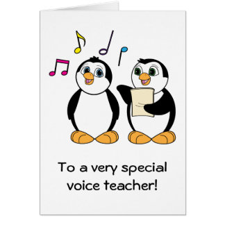 Voice Teacher Thank You Card