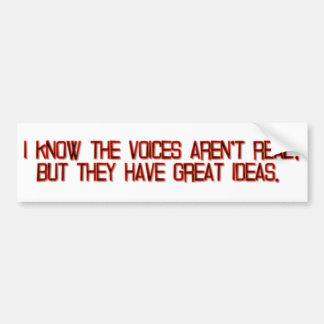 Voices and Ideas Bumper Sticker