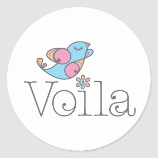 Voilá Apparel & Gifts (original) Round Sticker