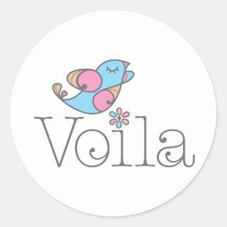 Voilá Apparel & Gifts (original) Round Sticker